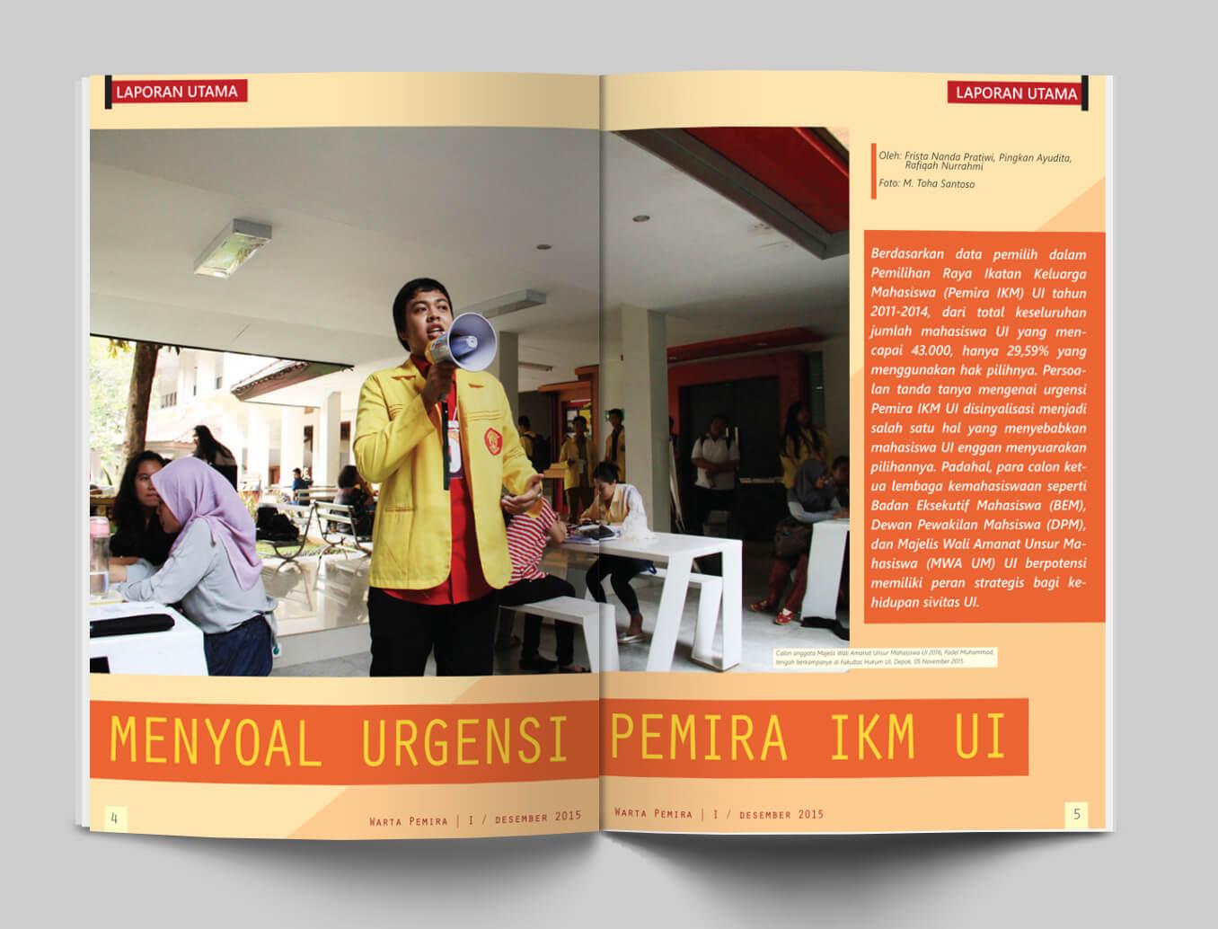 Layout Suara Mahasiswa UI - Warta Pemira - 2015 - PORTO PRITA