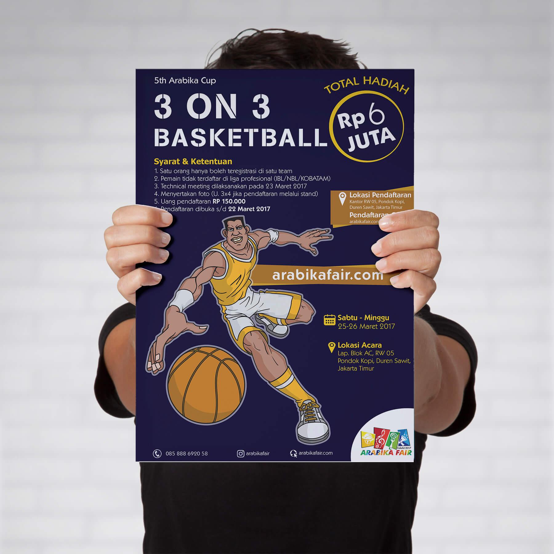Desain Prita - Arabika Fair - Poster Basket