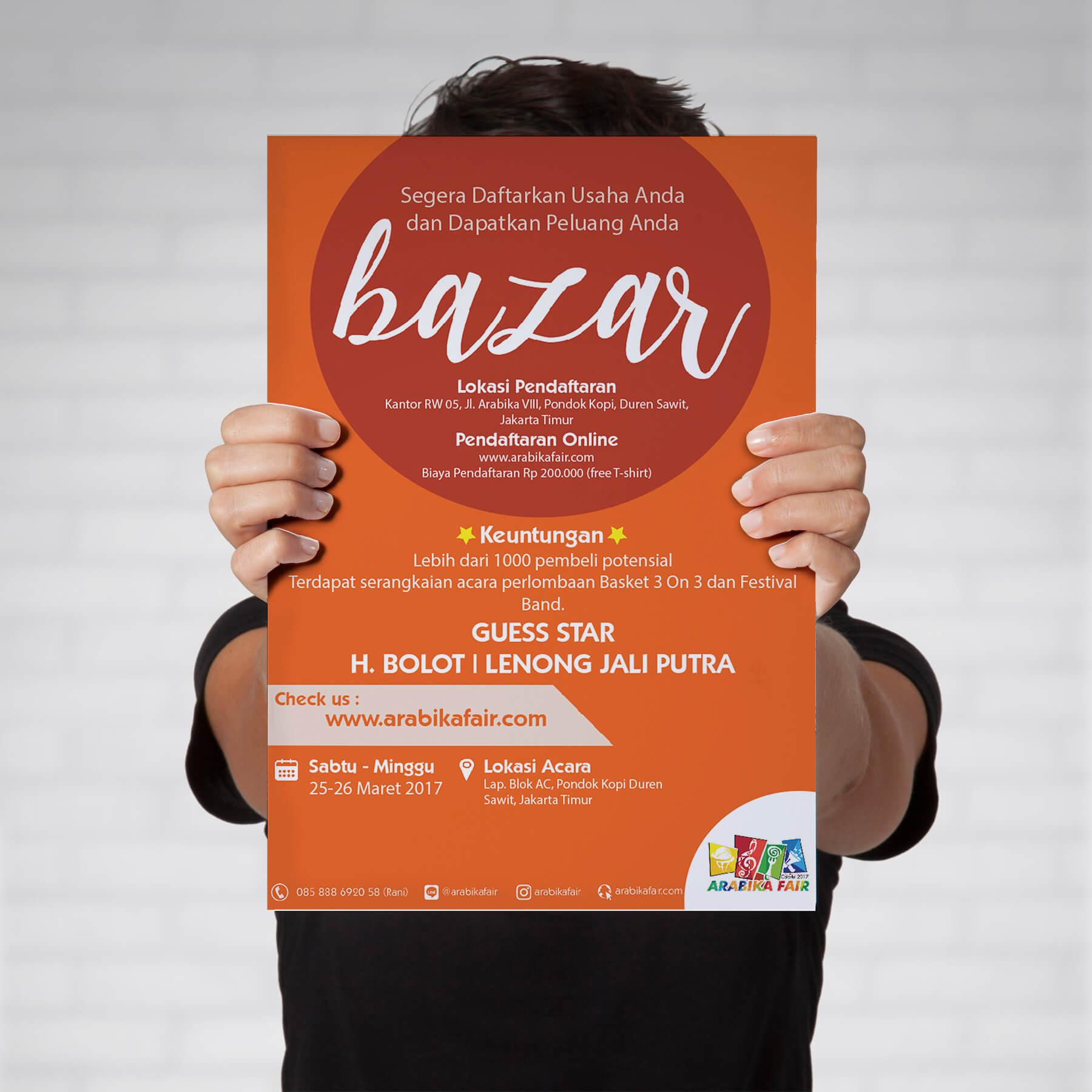 Desain Prita - Arabika Fair - Poster Bazar