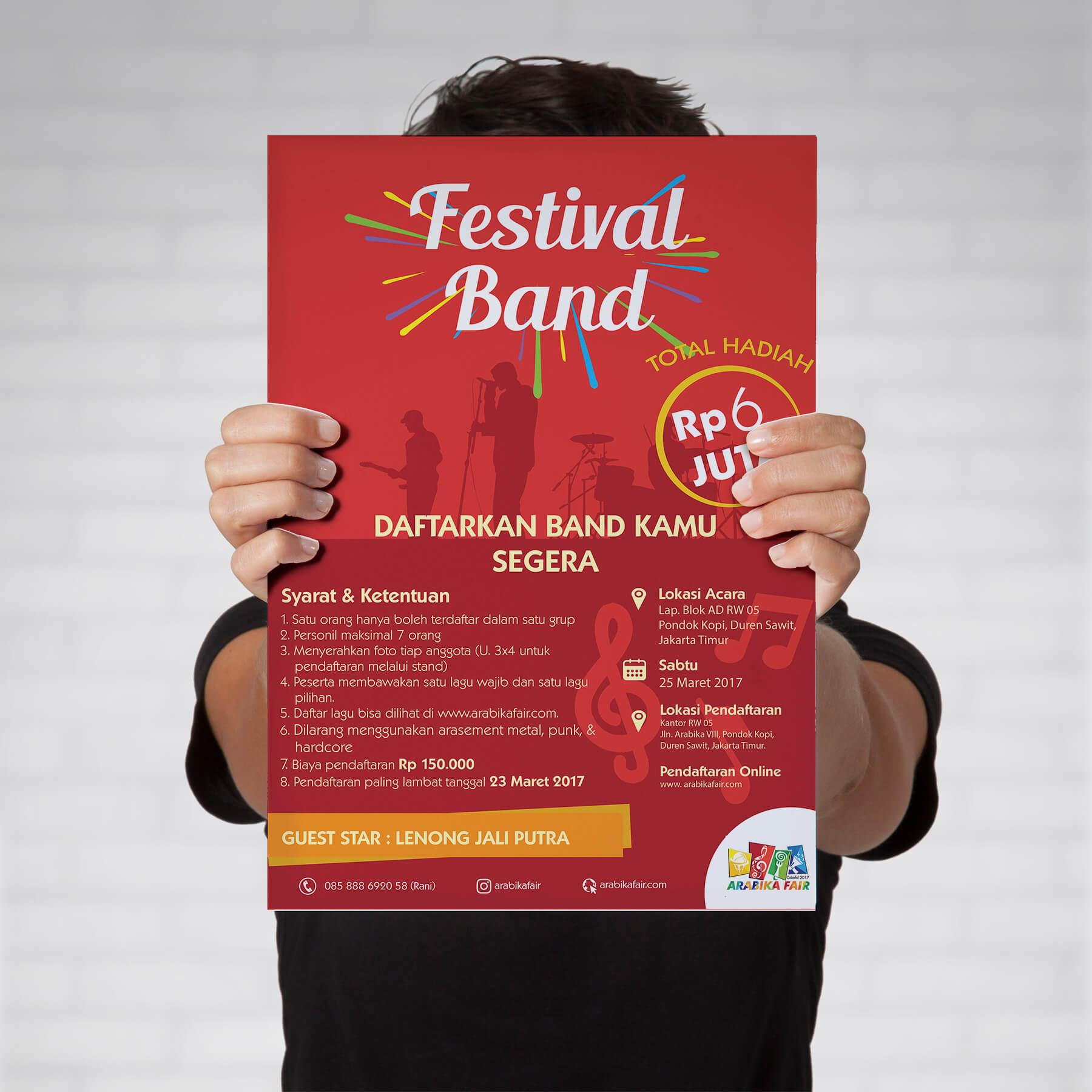 Desain Prita - Arabika Fair - Poster Festival Band