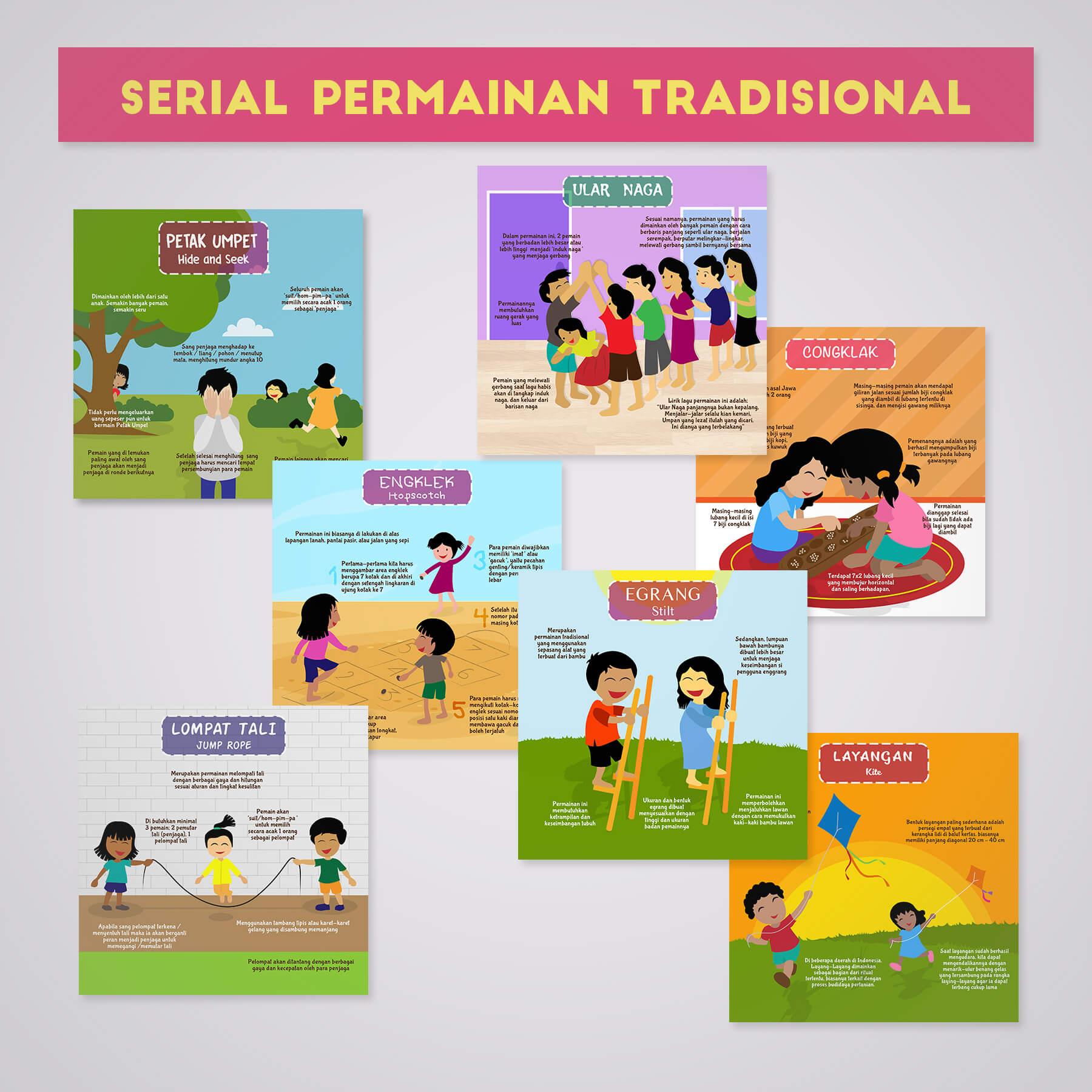 Desain Prita - Infografis serial permainan tradisional