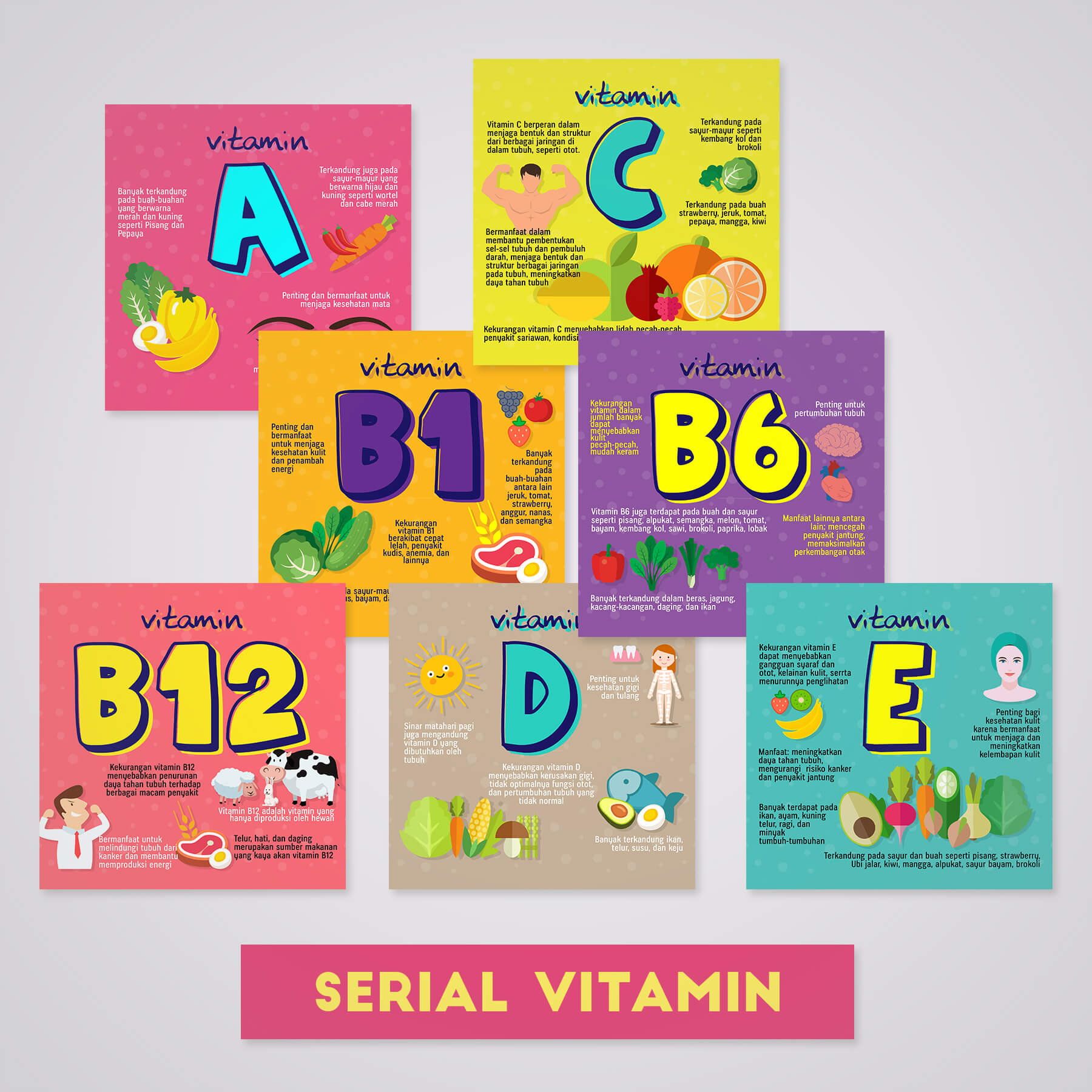 Desain Prita - Infografis serial vitamin