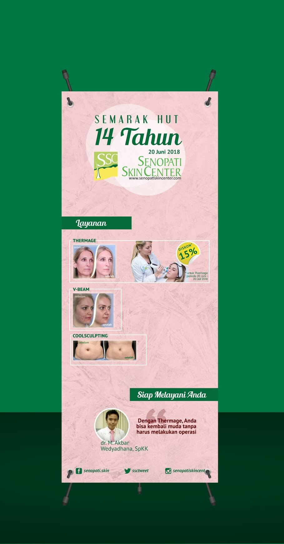 Desain Prita - Standing Banner Senopati Skin Center