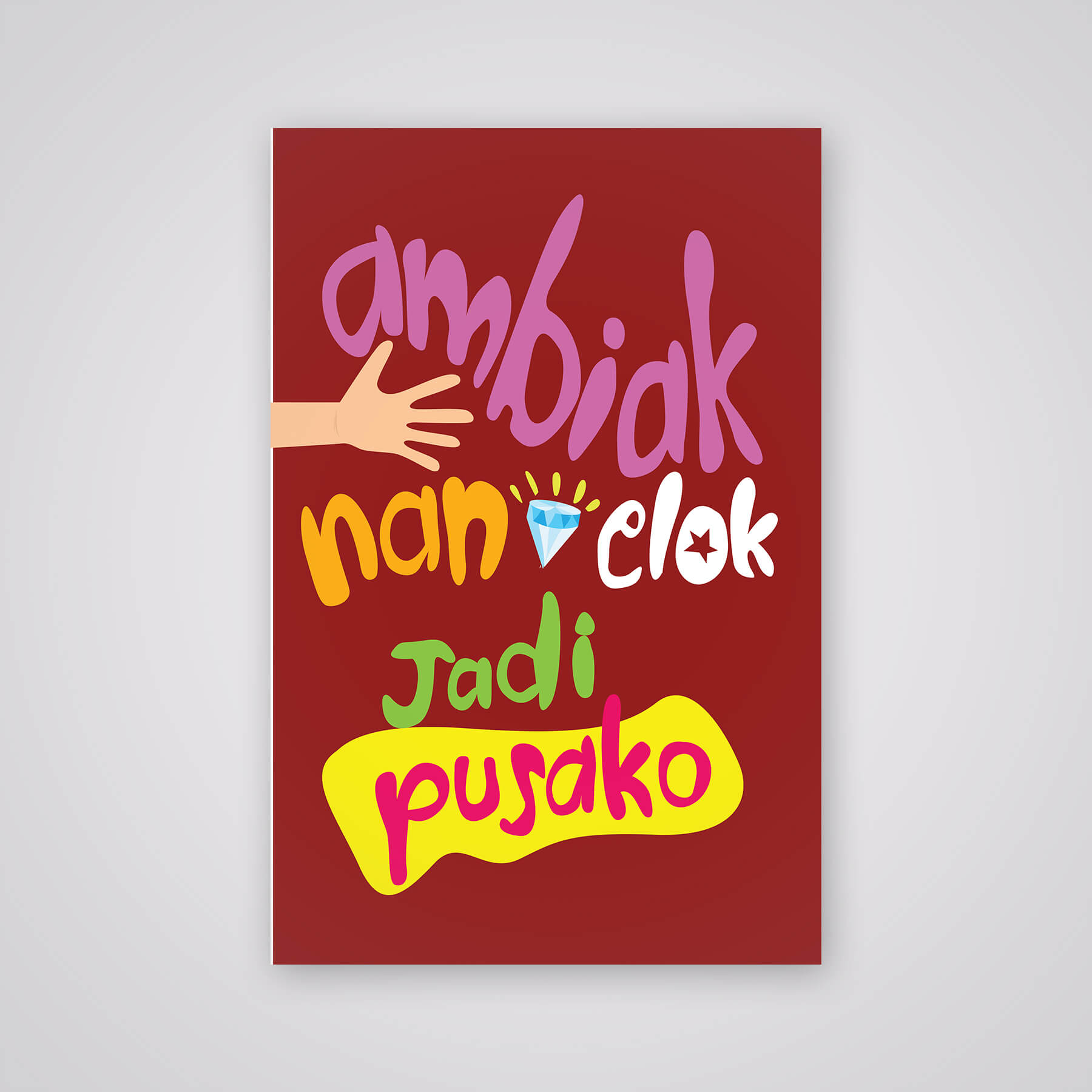 Desain Prita - Tipografi pepatah Minang
